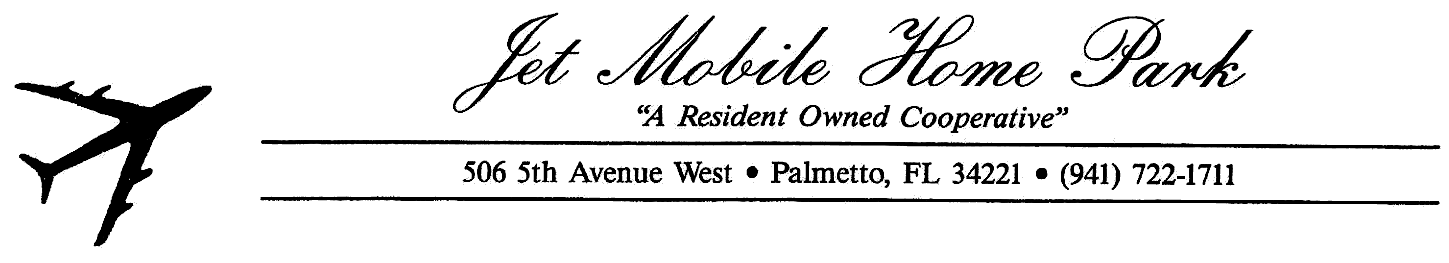 Jet Mobile Home Park Logo